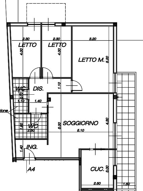 Appartamento quadrilocale in vendita a Capurso (BA)
