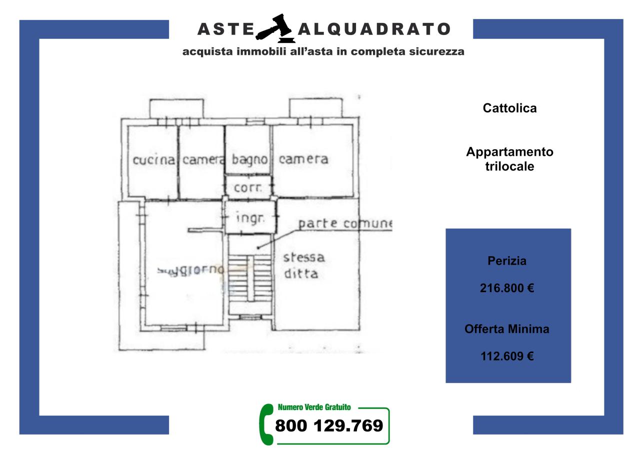 Foto 1 di Appartamento Via Curie Madame, Cattolica