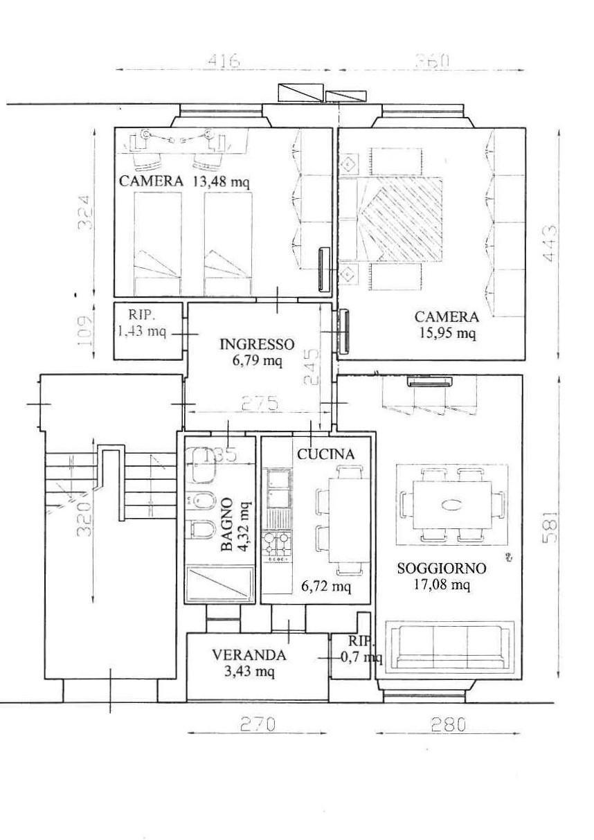 Appartamento in vendita a Livorno, 4 locali, prezzo € 85.000 | CambioCasa.it