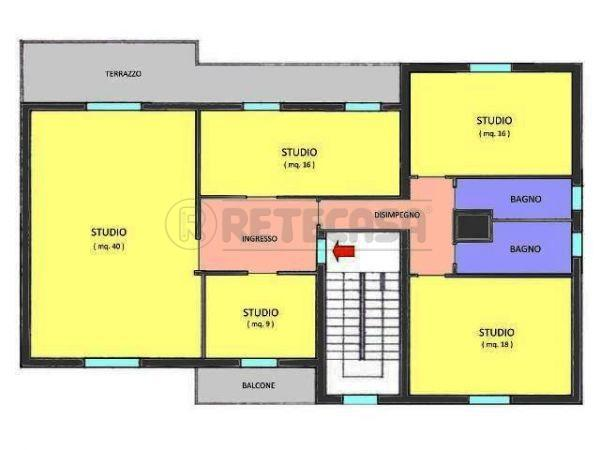 Ufficio / Studio in affitto a Mantova, 5 locali, prezzo € 700 | Cambio Casa.it