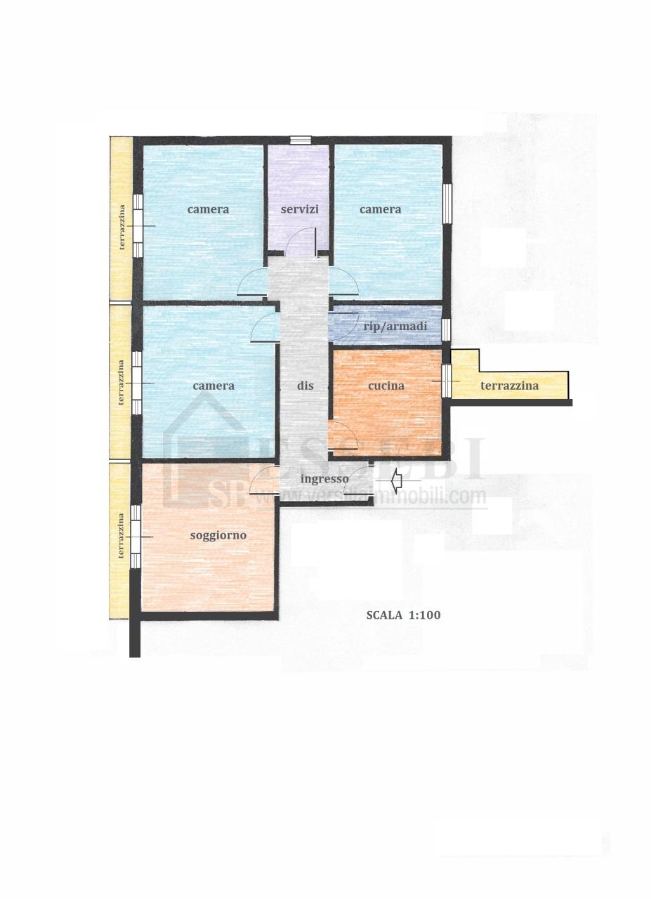 Appartamento in vendita a Forte dei Marmi, 5 locali, prezzo € 720.000   Cambio Casa.it