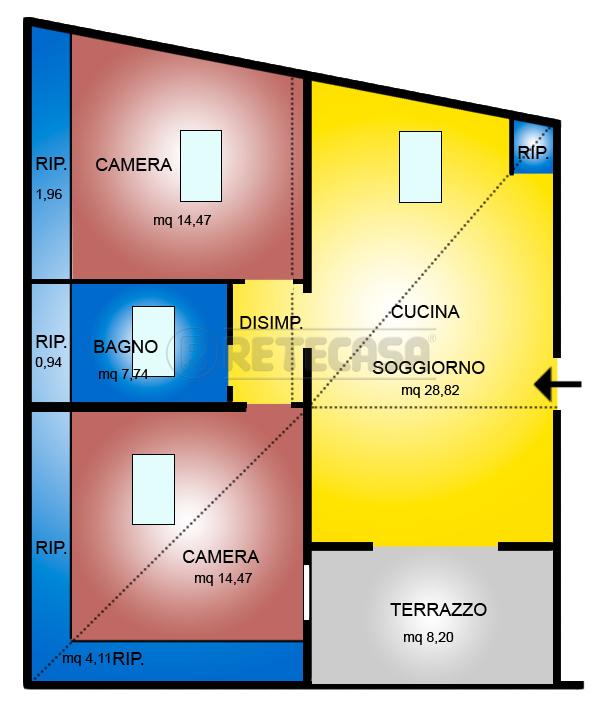 Attico / Mansarda in vendita a Pescara, 3 locali, prezzo € 150.000 | Cambio Casa.it