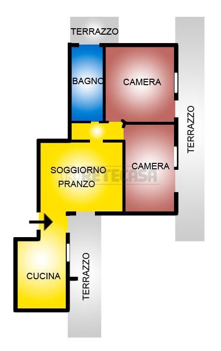 Bilocale Montecchio Maggiore Via Matteotti 52 1