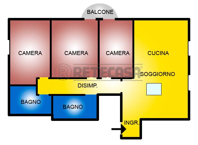 Appartamento in affitto a Bolzano Vicentino, 4 locali, prezzo € 500 | Cambio Casa.it