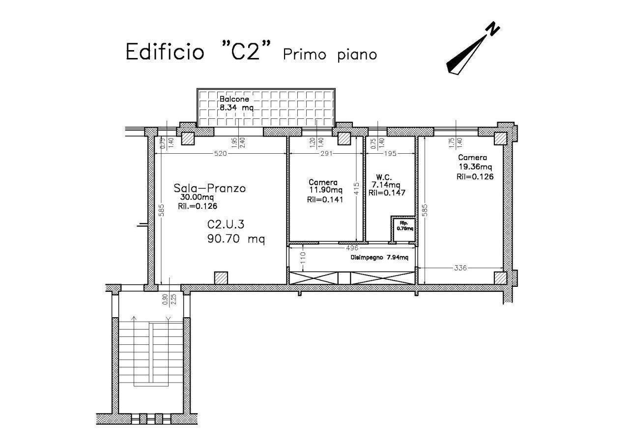 Appartamento in affitto a Langhirano, 3 locali, prezzo € 500 | Cambio Casa.it