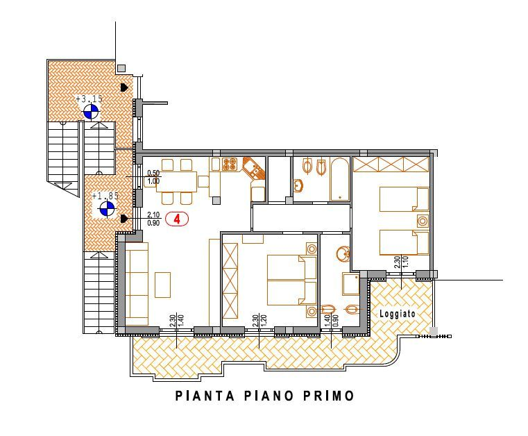 Appartamento 5 locali in vendita a Chiesina Uzzanese (PT)