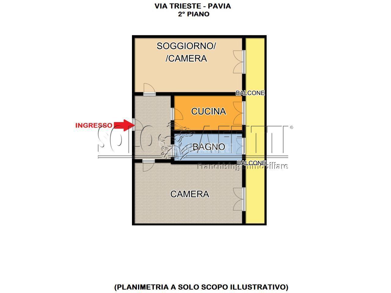 Bilocale Pavia Via Trieste 13