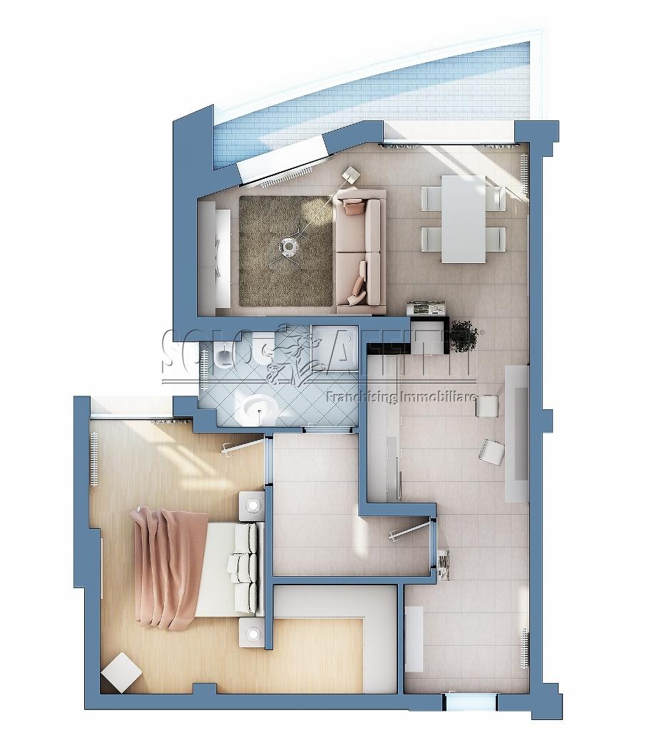 Appartamento bilocale in affitto a gallarate piano terra for Ulteriori planimetrie