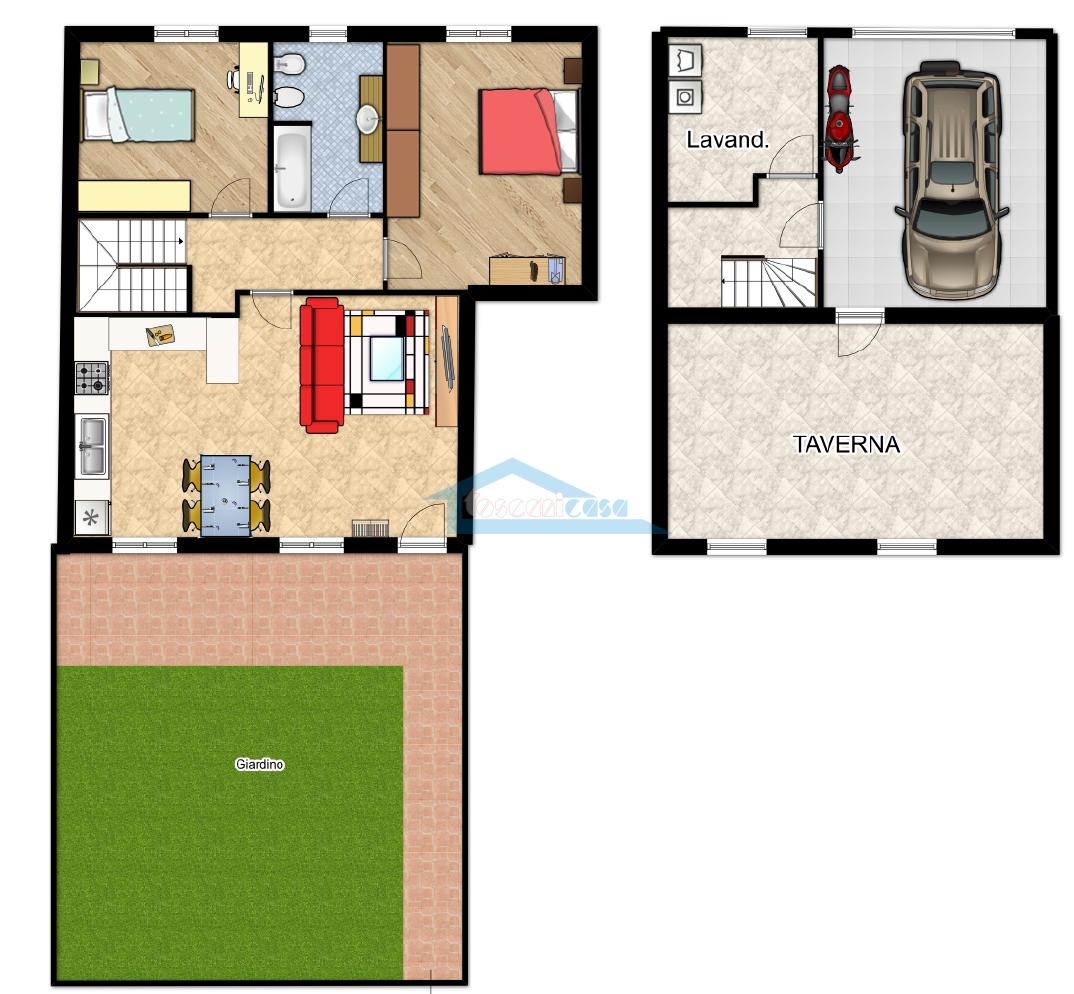 Piantina Appartamento  a Adro