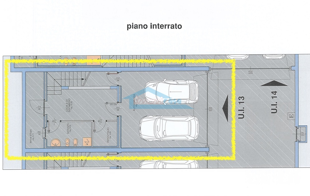 n.13 Piano Interrato Villa a schiera  a Palazzolo sull'Oglio