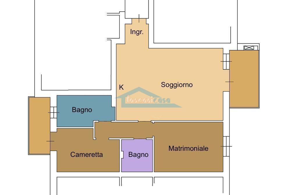 Piantina Appartamento  a Cologne
