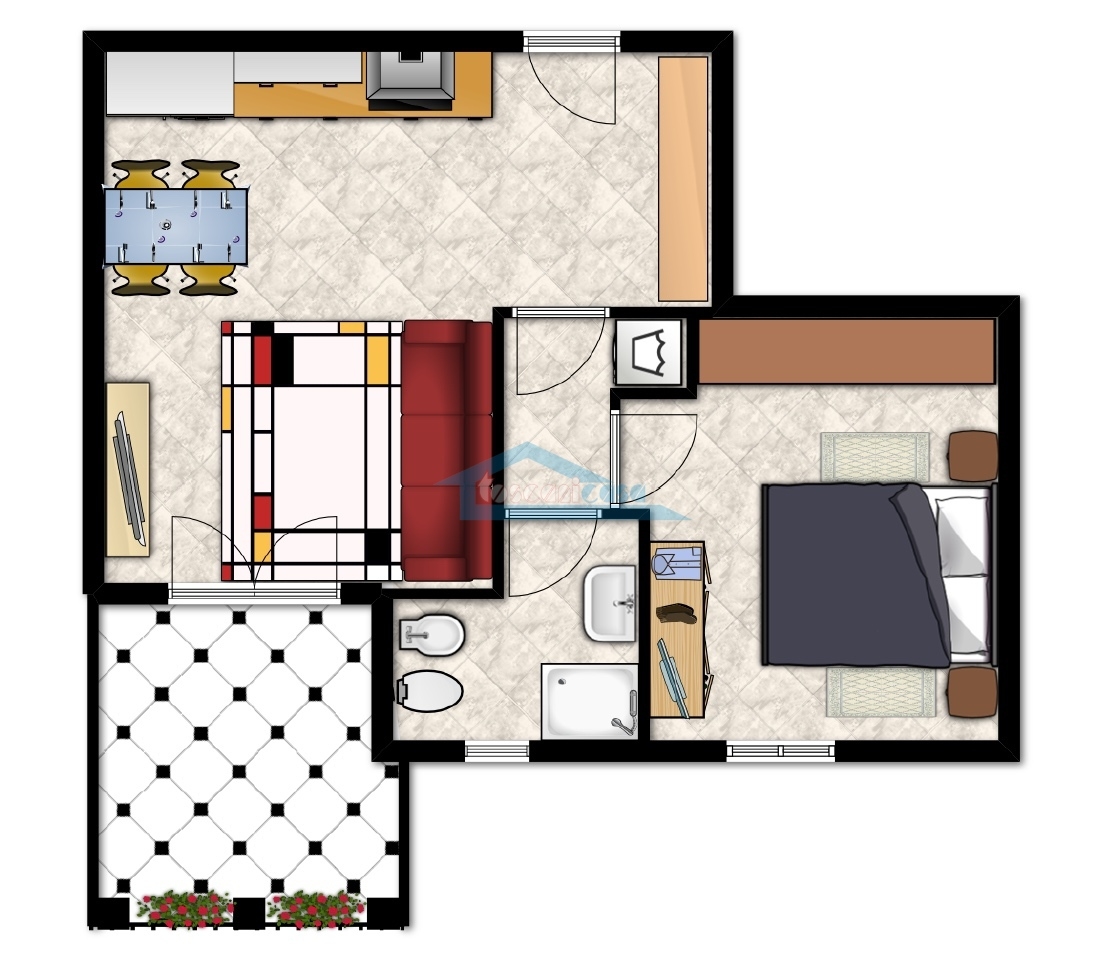Planimetria Appartamento  a Erbusco