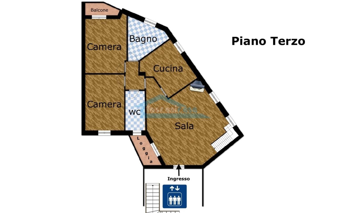 Planimetria Appartamento  a Palazzolo sull'Oglio