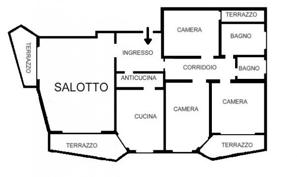Appartamento in vendita, rif. 105581