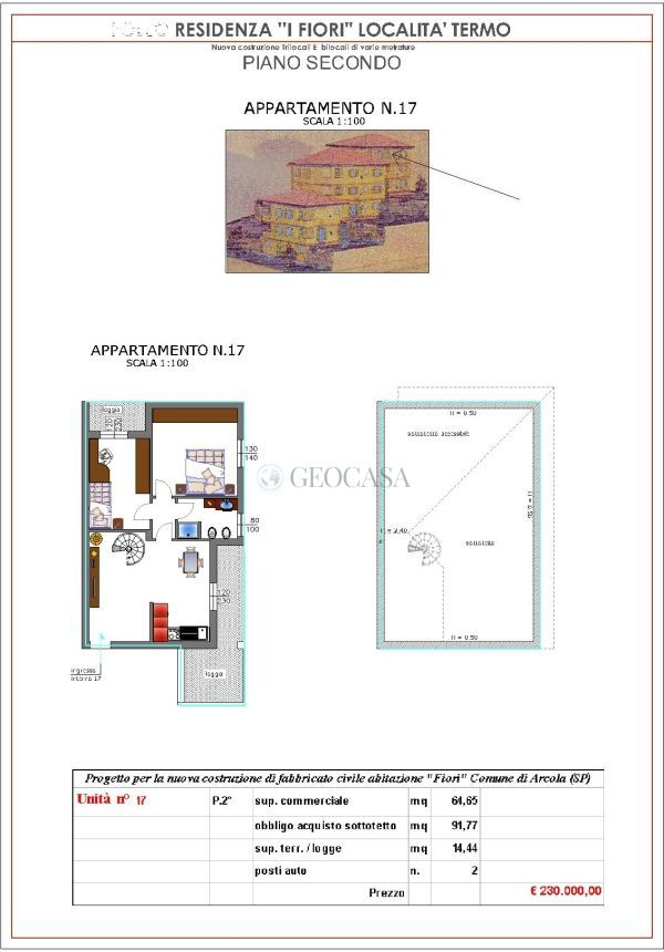 Appartamento in vendita a Arcola, 3 locali, prezzo € 230.000   CambioCasa.it