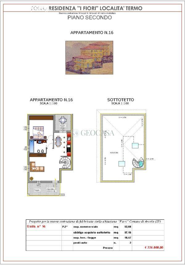 Appartamento in vendita a Arcola, 3 locali, prezzo € 226.000   CambioCasa.it