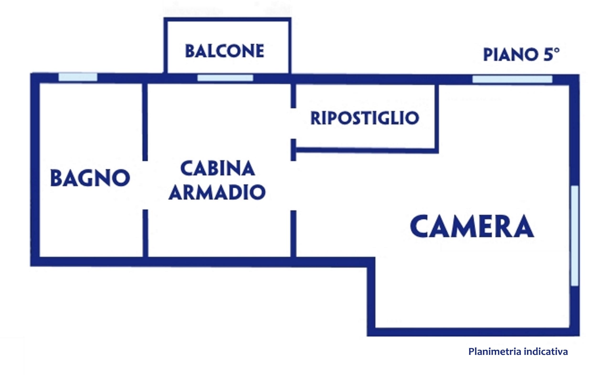 Planimetria Piano 5° (notte)
