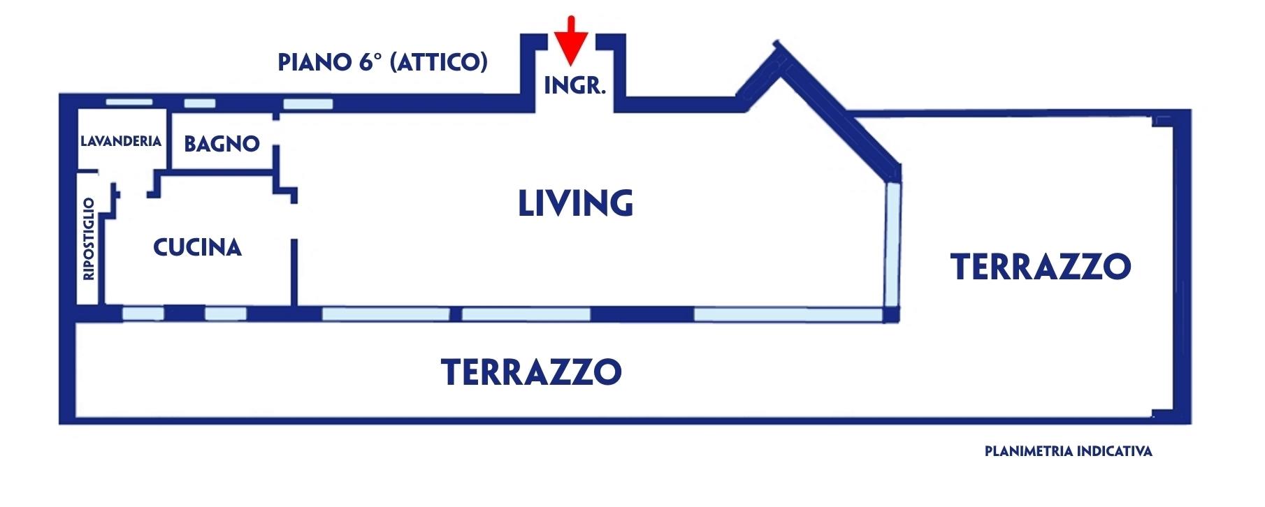 Planimetria Piano 6° (ATTICO)