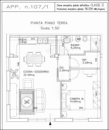 Appartamento in affitto a Capannoli, 2 locali, prezzo € 450 | Cambio Casa.it