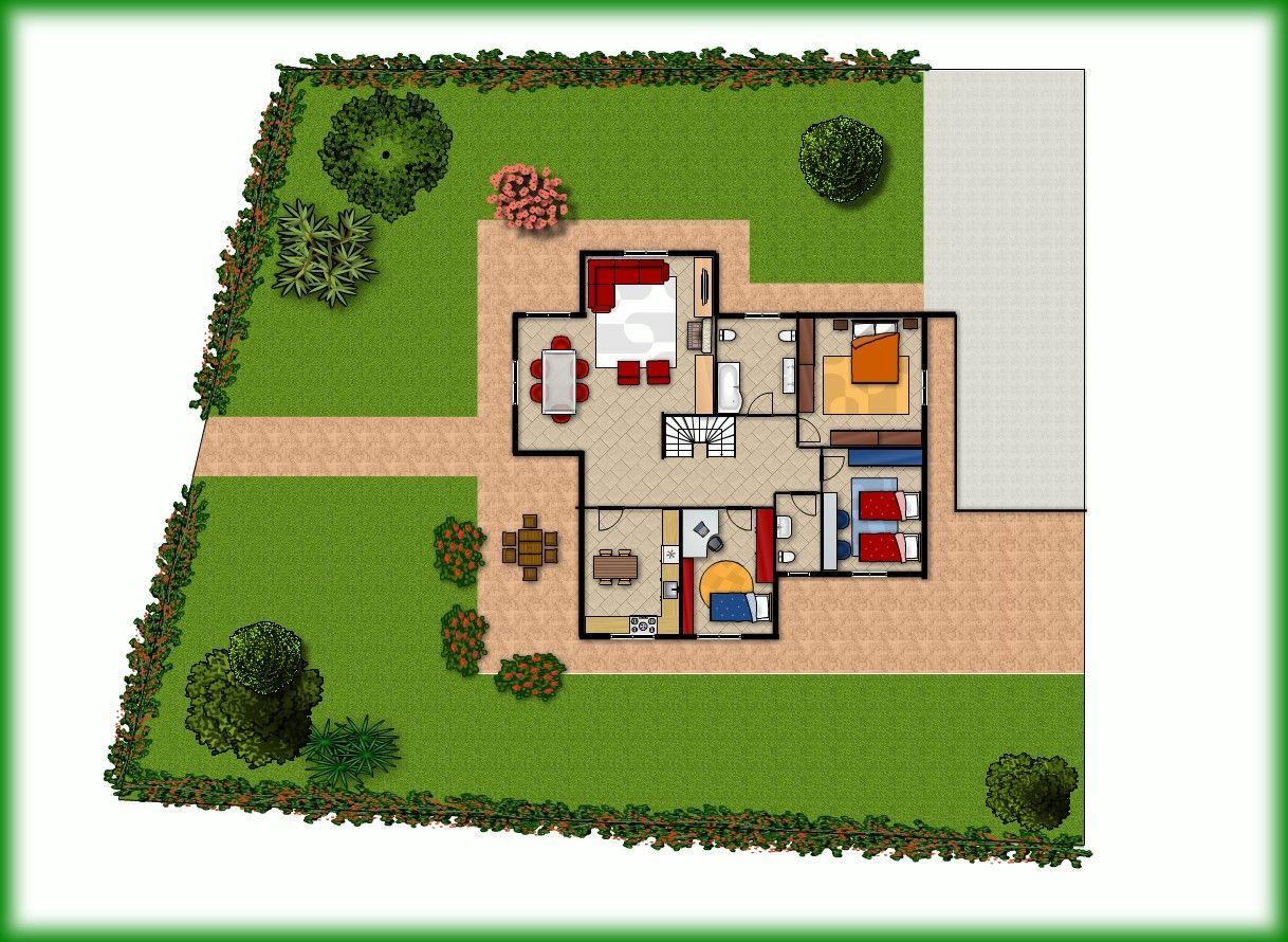 Progetto giardino villetta xm41 regardsdefemmes for Planimetrie 1 livello