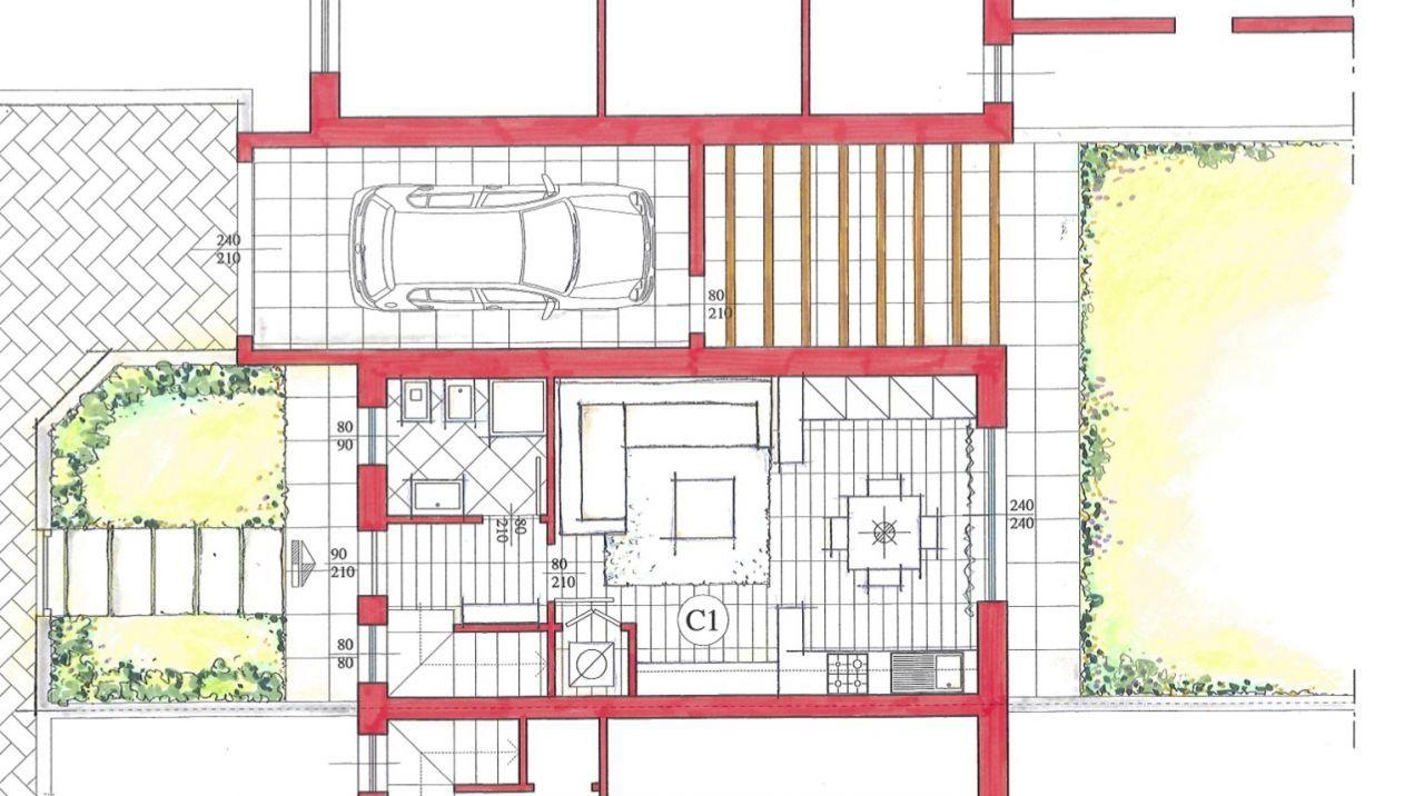 Progetto kasa for Planimetria giardino