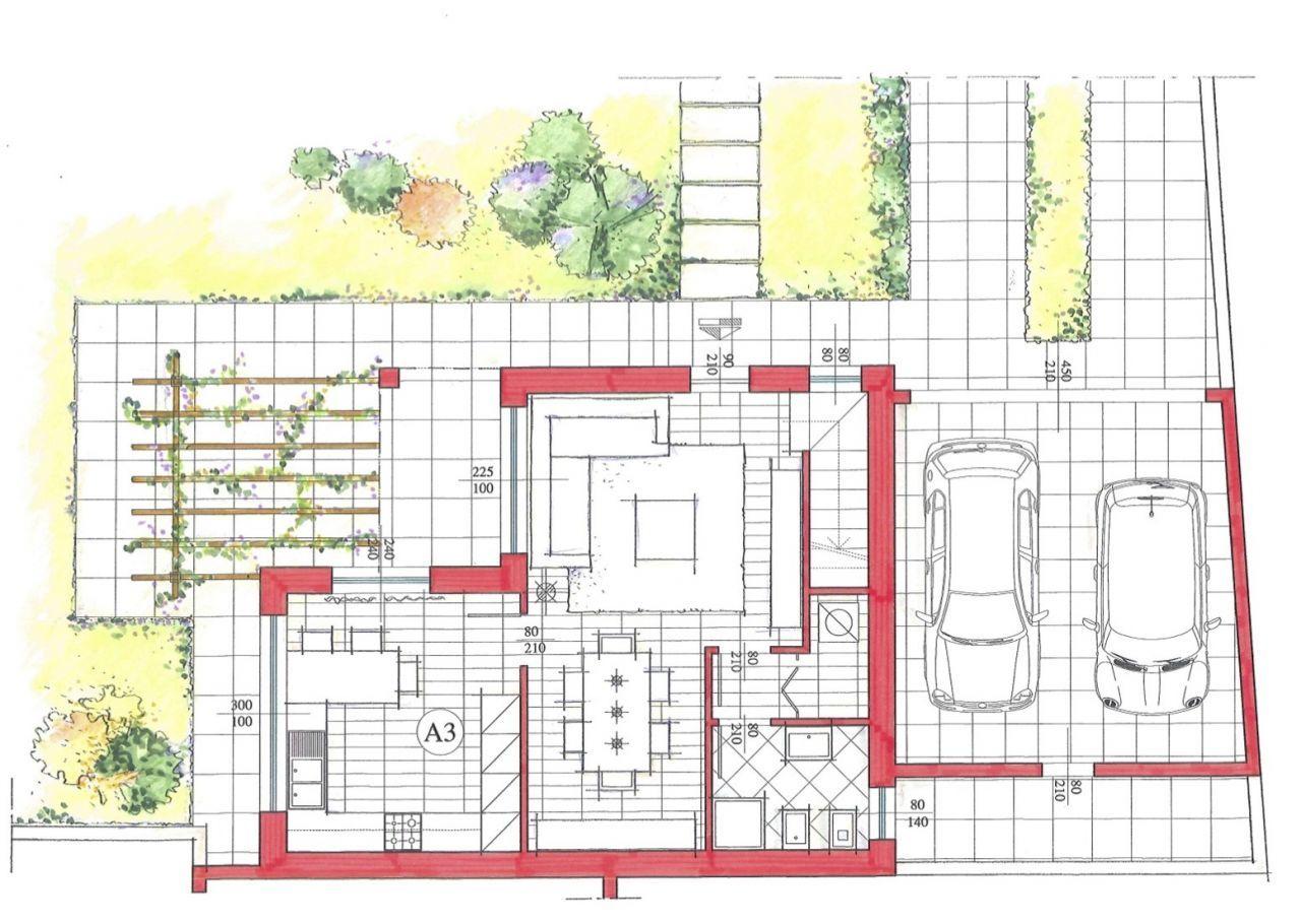 Villa singola in costruzione in vendita turate progetto kasa for Planimetrie a un piano aperto