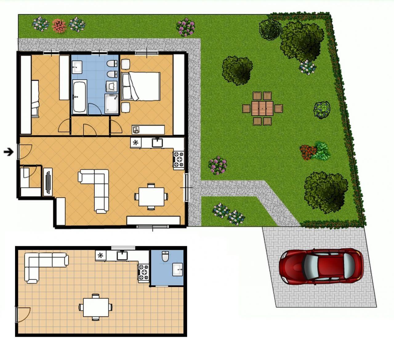Appartamento 3 locali in vendita carbonate progetto kasa for Giardino 80 mq