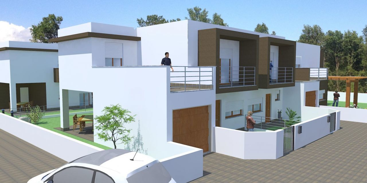 Stunning progetti di case moderne with progetti di case for Ville bifamiliari moderne