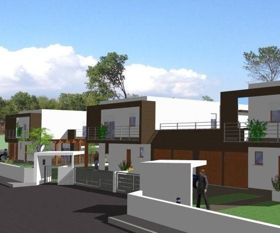 Villa singola in costruzione in vendita turate progetto kasa for Villa moderna progetto