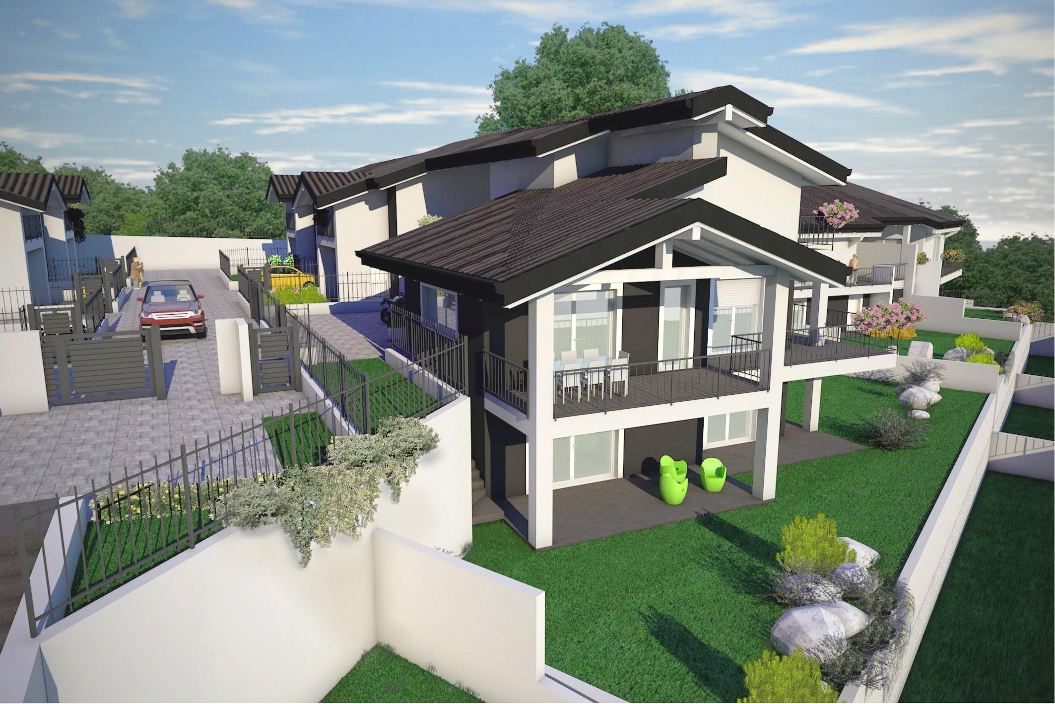 Villa singola nuova costruzione in vendita tradate for Progetto villa moderna nuova costruzione
