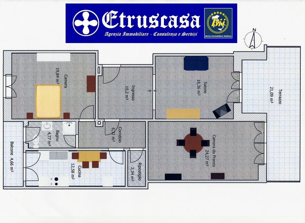 Appartamento trilocale in vendita roma tuscolano aureli for Planimetria 3d online