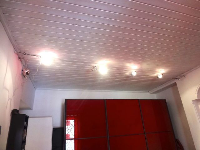 Потолок из пластиковых панелей двухуровневый 29