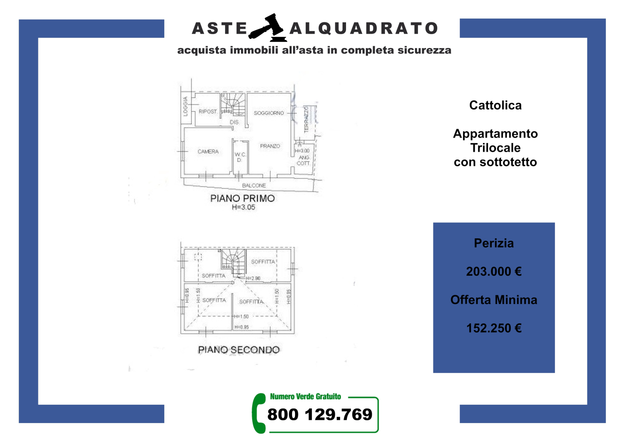 Appartamento in vendita a Cattolica, 3 locali, prezzo € 152.250 | CambioCasa.it