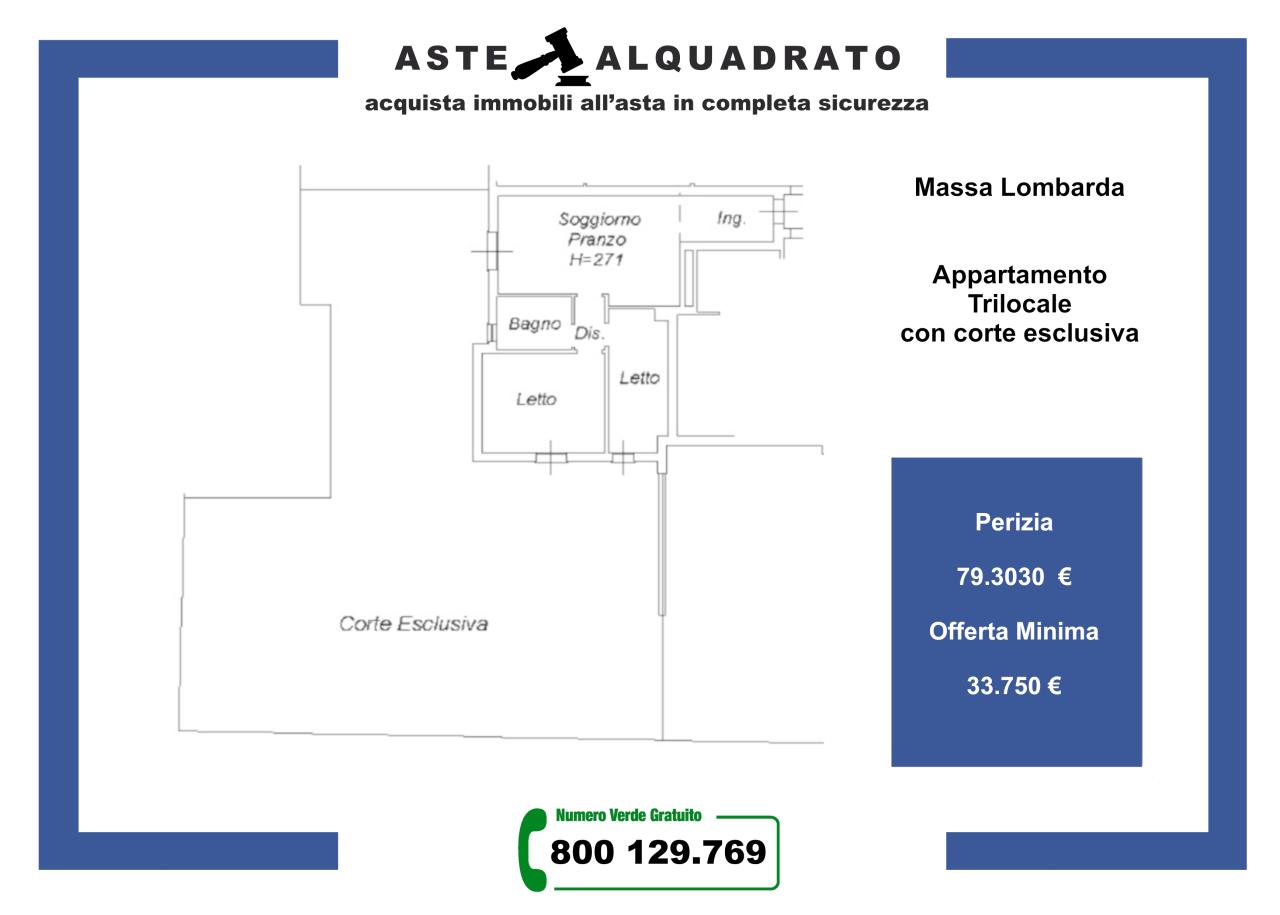 Appartamento in vendita a Massa Lombarda, 3 locali, prezzo € 33.750   CambioCasa.it