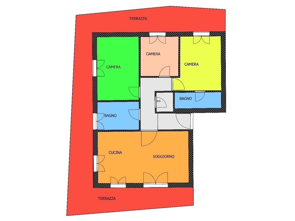 Appartamento in vendita a Borgo San Lorenzo, 5 locali, prezzo € 295.000   PortaleAgenzieImmobiliari.it
