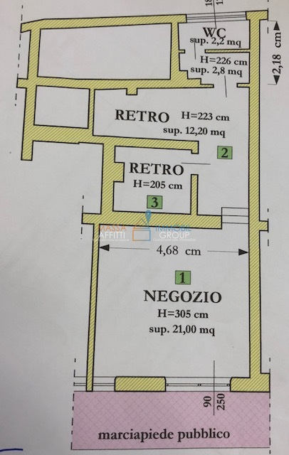 Locale commerciale - 1 Vetrina a Avenza, Carrara Rif. 5475449