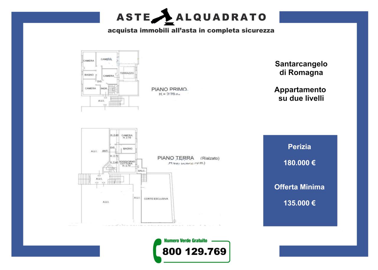 Appartamento in vendita a Santarcangelo di Romagna, 6 locali, prezzo € 135.000 | PortaleAgenzieImmobiliari.it