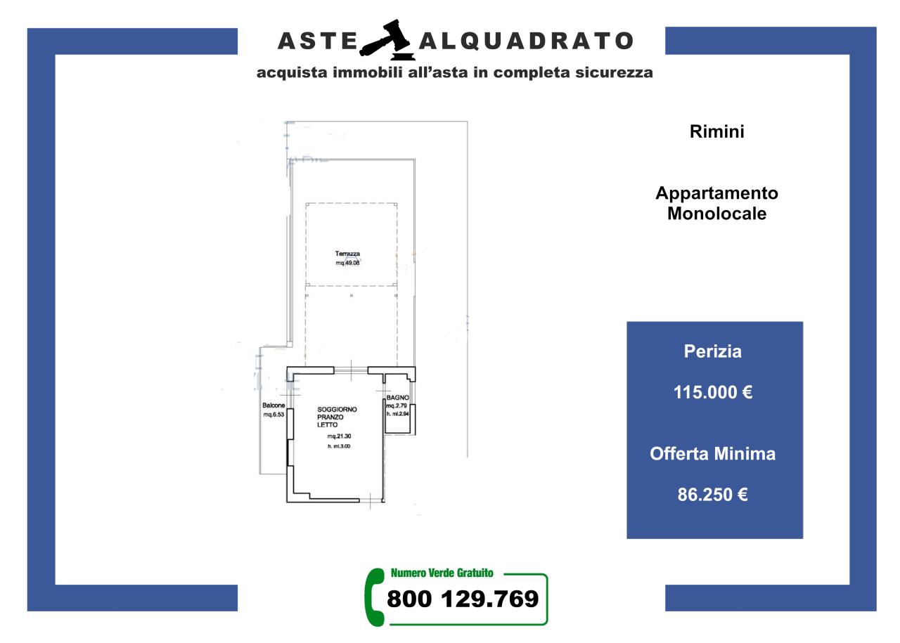 Appartamento in vendita a Rimini, 1 locali, prezzo € 86.250   PortaleAgenzieImmobiliari.it