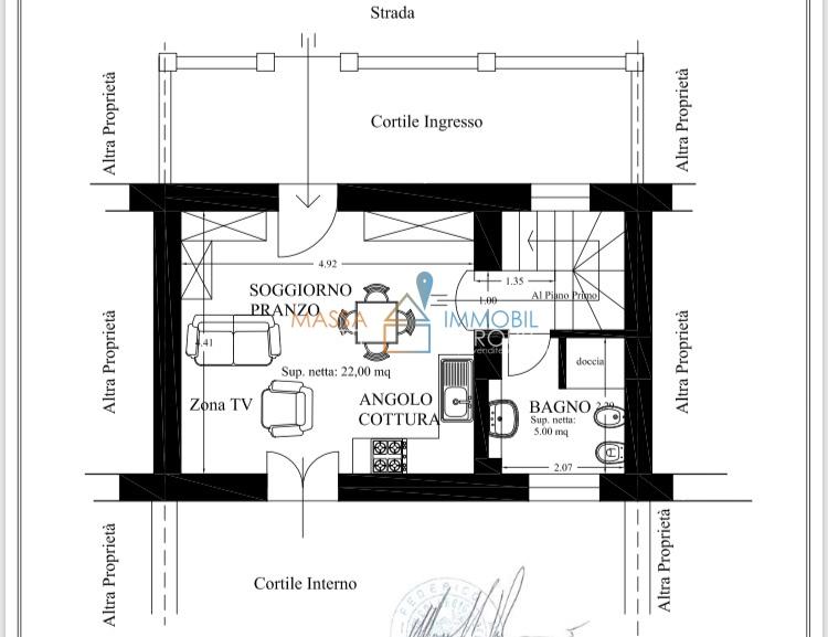 Porzione di casa arredato in vendita Rif. 7240349