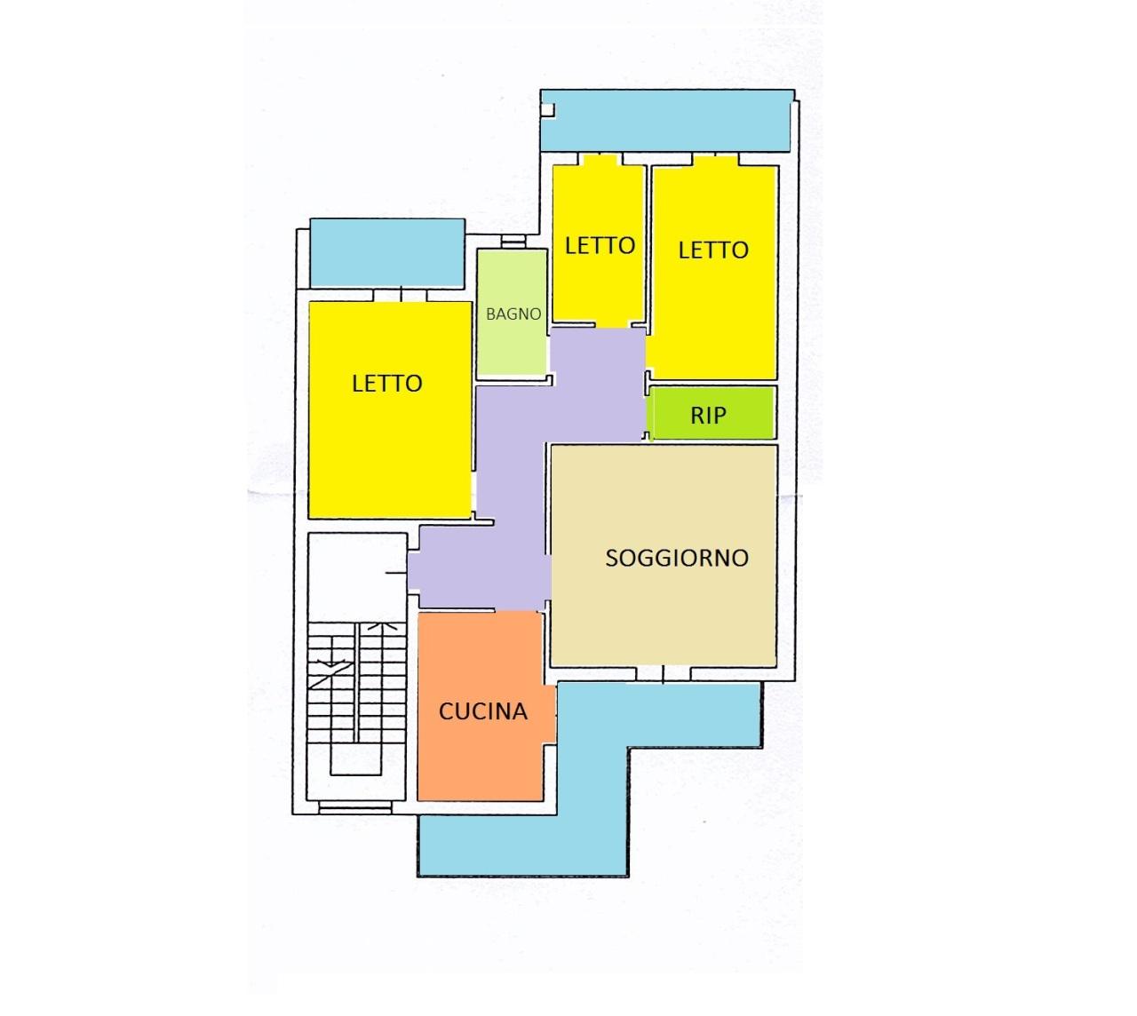 Quadrilocale da ristrutturare in vendita Rif. 6096456