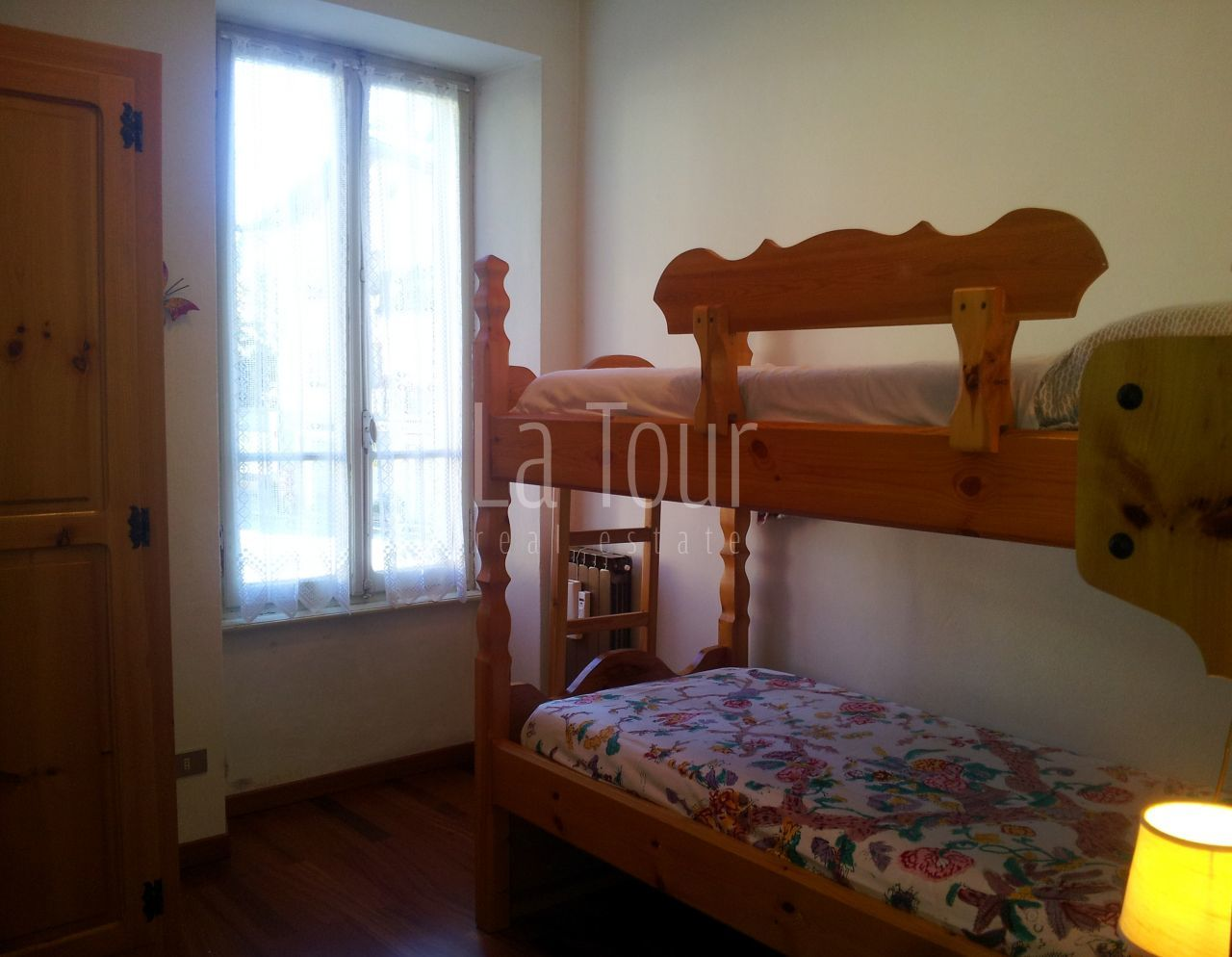 La camera con letto a castello