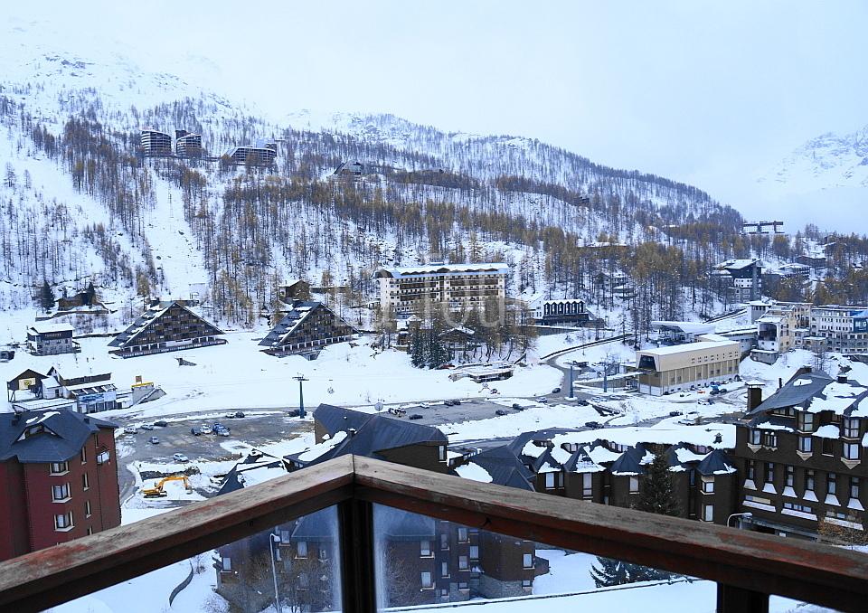 vista invernale dal balcone