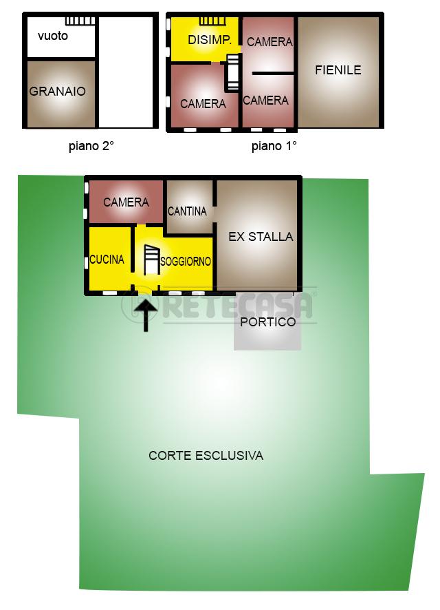 Porzione di casa in discrete condizioni in vendita Rif. 8673790