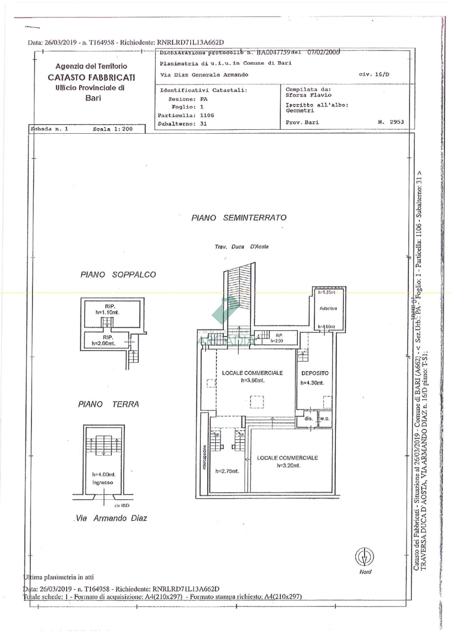 Locale - Commerciale C/1 a Palese, Bari Rif. 10491847
