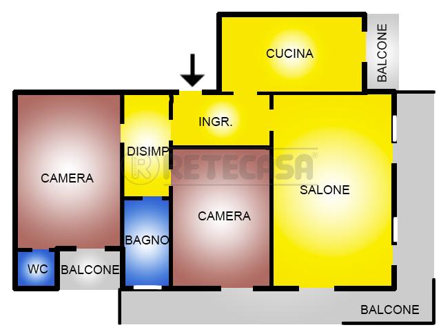 Quadrilocale in discrete condizioni in vendita Rif. 4130035