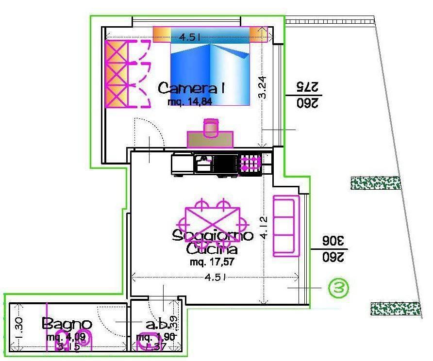 Bilocale in buone condizioni arredato in affitto Rif. 11932353