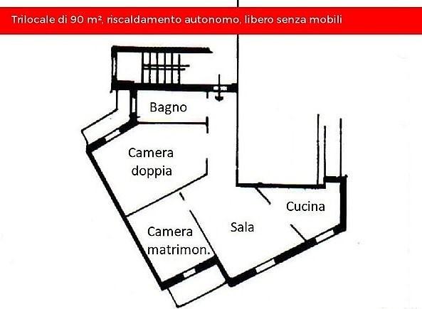 Appartamento Trilocale 95 mq.