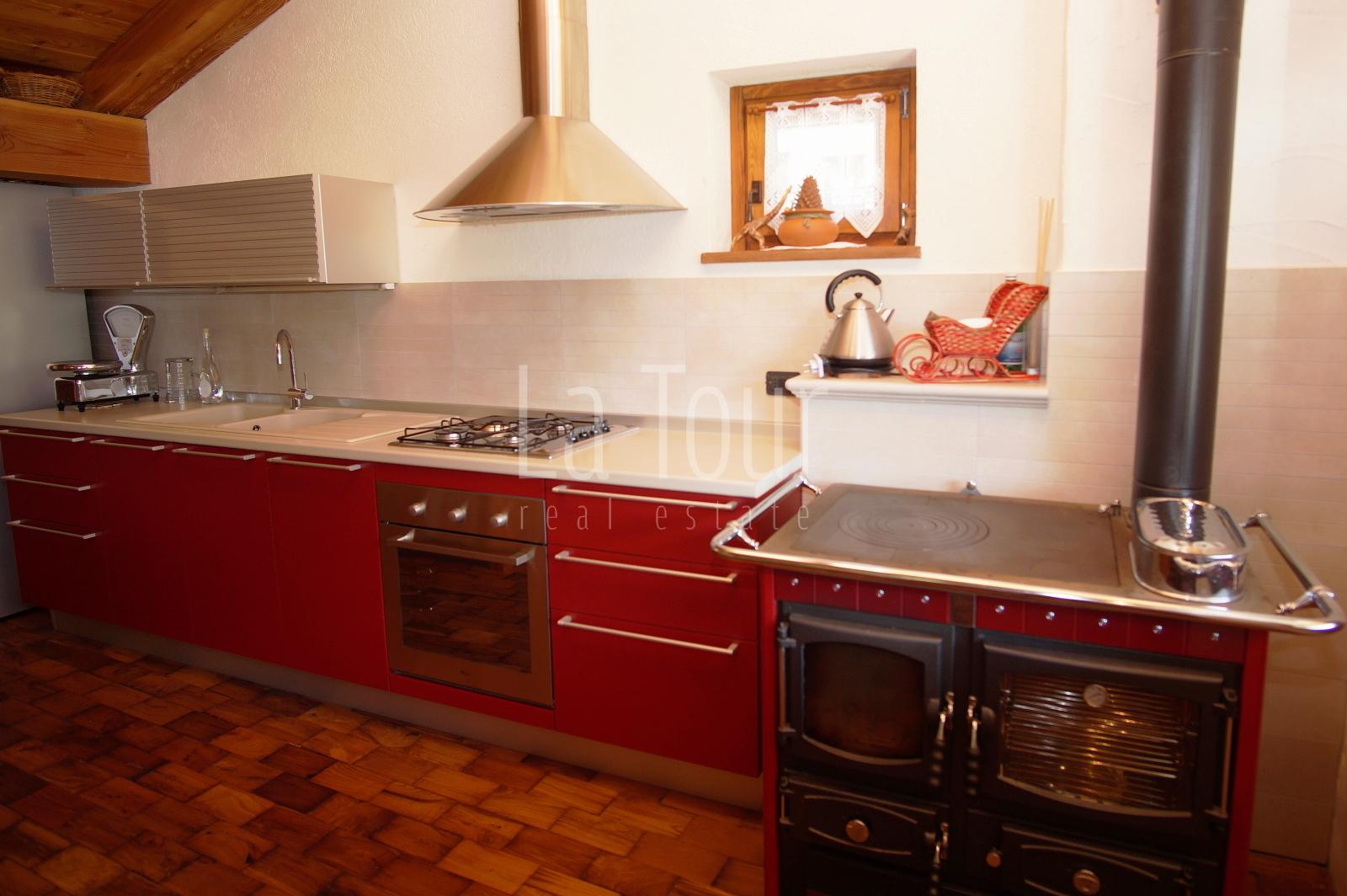 vista cucina stufa