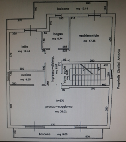 Appartamento - 2 vani letto a Via Trento e Trieste, Orsogna