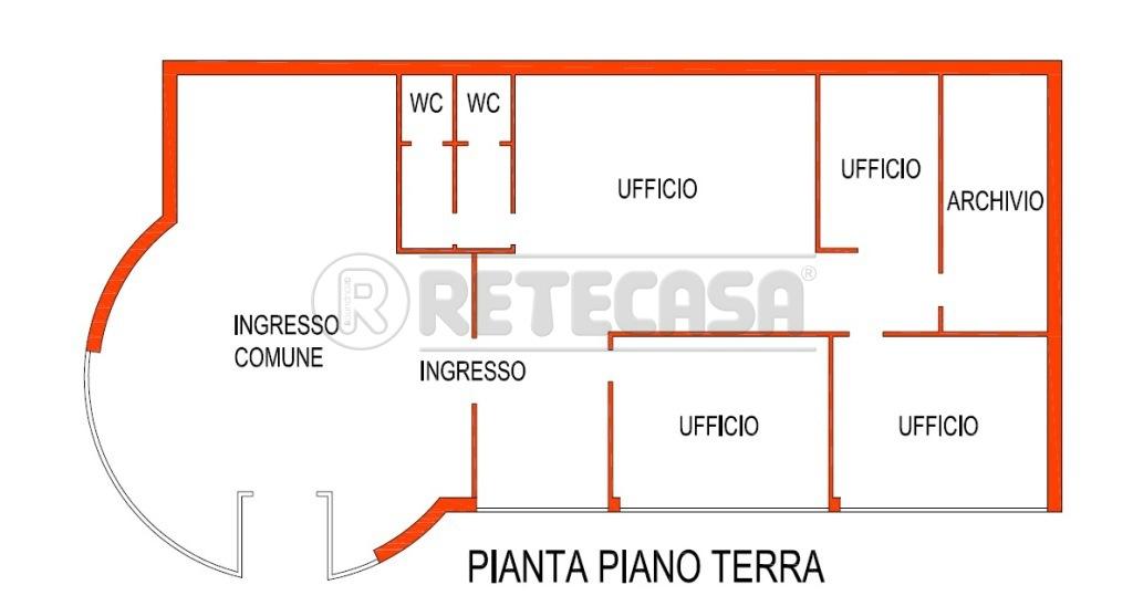 Ufficio / Studio in affitto a Bondeno, 4 locali, prezzo € 700 | CambioCasa.it